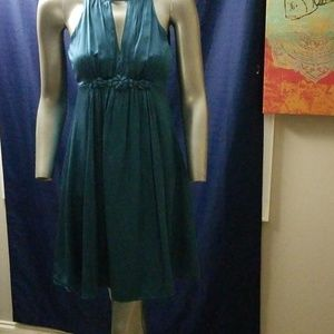 ESLEY SIZE SMALL TURQUOISE DRESS